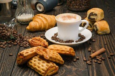 Fototapet Kaffe och bakverk