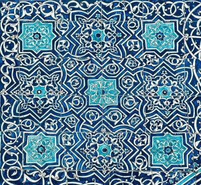 Fototapet Kaklade bakgrund med orientaliska ornament