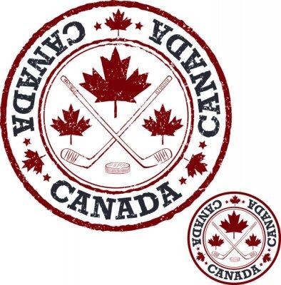 Fototapet Kanadensisk hockey stämpel.