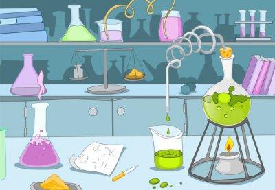 Fototapet kemisk Laboratory