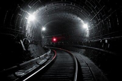 Fototapet Kiev tunnelbanan tunnel