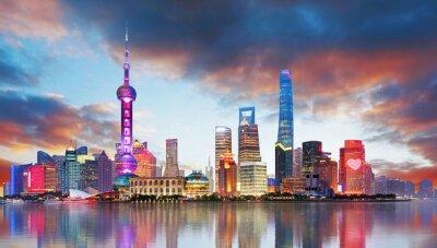 Fototapet Kina - Shangahi skyline