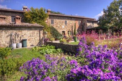 Fototapet Klassisk toskansk herrgård