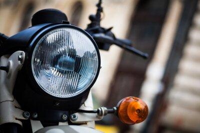 Fototapet Klassiska motorcykel strålkastare