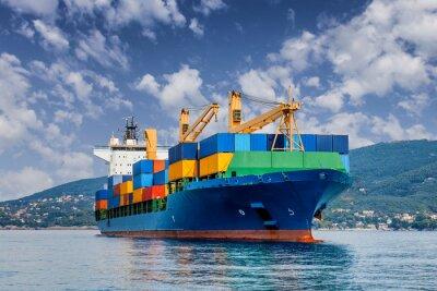 Fototapet köpman containerfartyg