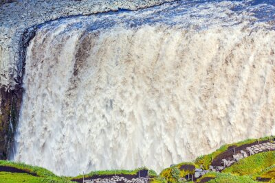 Fototapet Kraftfull vattenfall Dettifoss