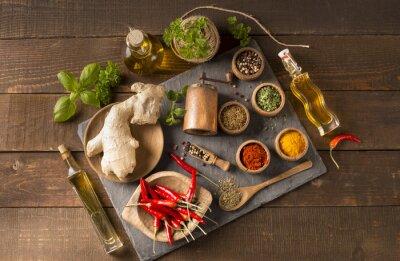Fototapet kryddor och örter