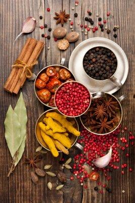 Fototapet kryddor urval
