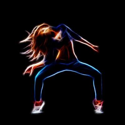 Fototapet Kvinnlig höft dancer hop