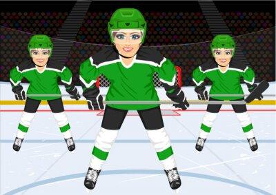 Fototapet kvinnlig ishockey