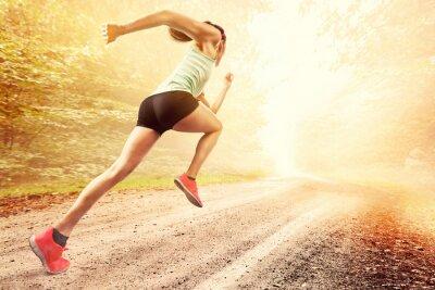 Fototapet kvinnliga löpare