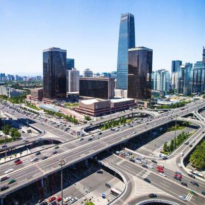 Fototapet landskap av modern stad, beijing