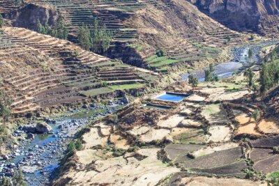 Fototapet landskap i Anderna. Peru.