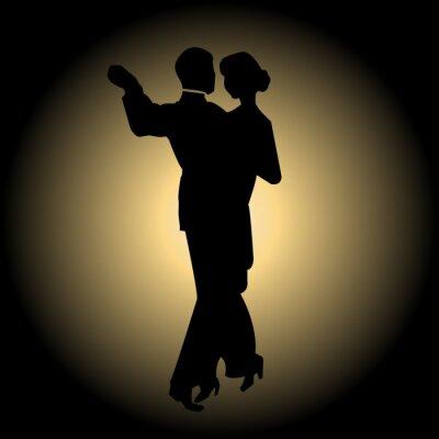 Fototapet långsam dans
