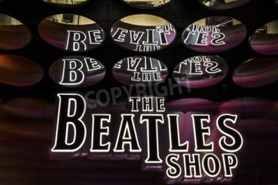 Fototapet Las Vegas - ca december 2016: The Beatles Shop på The Mirage. Detta är den enda licensierade Beatles-butiken I