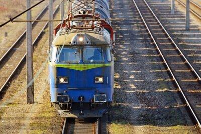 Fototapet last train