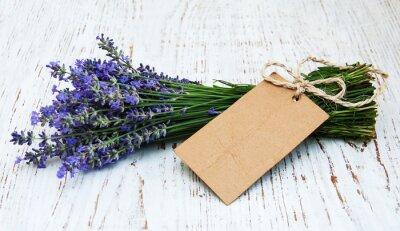 Fototapet lavendel blommor med taggen