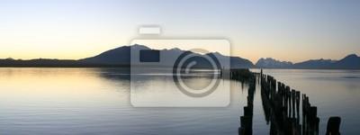Fototapet le lac natal Port-au-chili