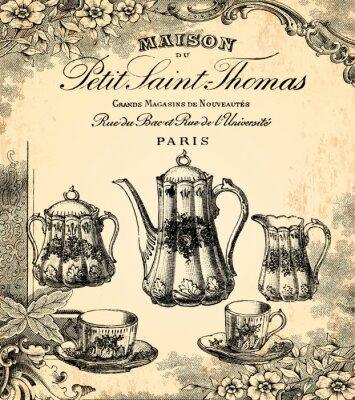 Fototapet Le salon de thé