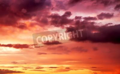 Fototapet lila solnedgång sky