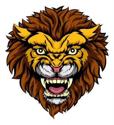 Fototapet Lion Mascot