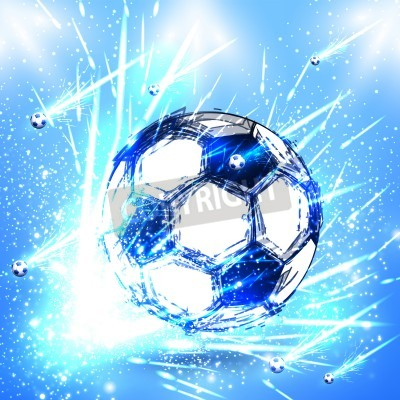 Fototapet ljus fotboll skede