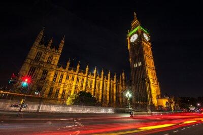 Fototapet London Big Ben på natten