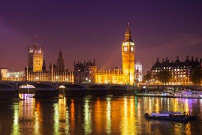 Fototapet London på natten