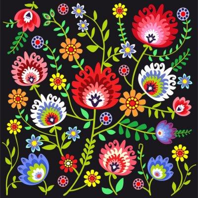 Fototapet Ludowy wzór kwiatowy