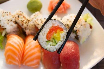 Fototapet lunch med sushi maträtt