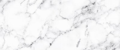 Fototapet Luxury of white marble texture and background for decorative design pattern art work. Marble with high resolution