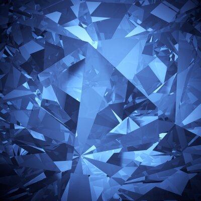 Fototapet Lyx blå kristall aspekt bakgrund