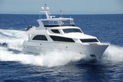 Fototapet Lyxyacht till sjöss