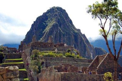 Fototapet Machu Picchu och Huayna Picchu