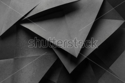 Fototapet Macro image of paper folded in geometric shapes, three-dimensional effect, abstract background
