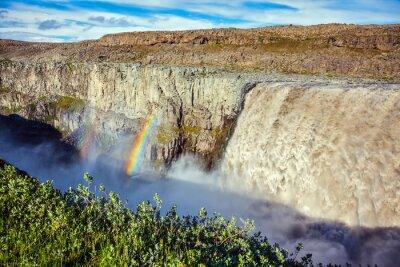 Fototapet Magnificent vattenfall Dettifoss