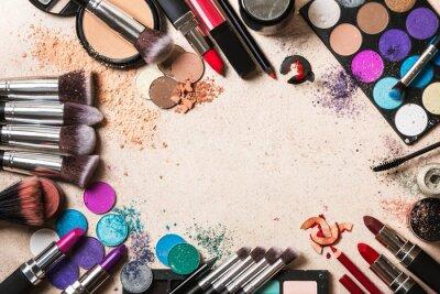 Fototapet makeup produkter