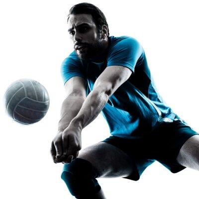 Fototapet man volleyboll silhuett
