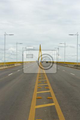 Fototapet Manaus Iranduba Bron över Amazonfloden, Brasilien