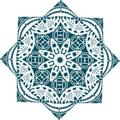 Fototapet Mandala etnisk indisk illustration utformning