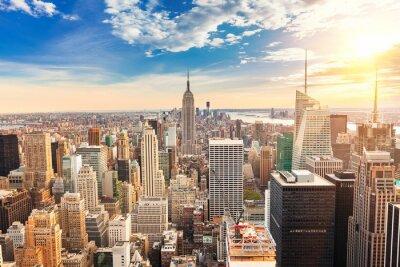Fototapet Manhattan Flygfoto