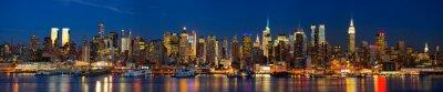 Fototapet Manhattan horisont panorama på natten, New York
