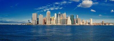 Fototapet Manhattan på en solig dag.