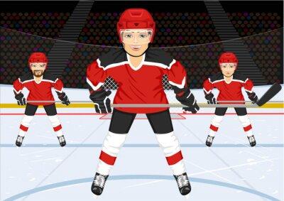 Fototapet manlig ishockey