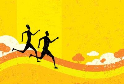 Fototapet människor jogging