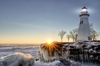 Fototapet Marblehead Winter Sunrise