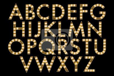 Fototapet marquee alfabetet samling
