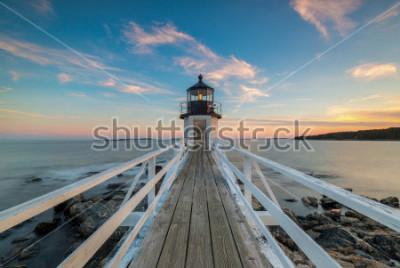 Fototapet Marshall Point Lighthouse solnedgång