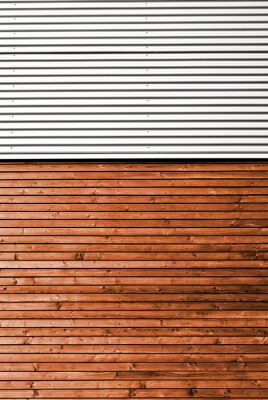 Fototapet Materialmix Holz metall @ miket