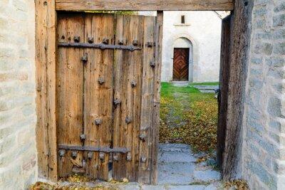 Fototapet medeltida kyrka